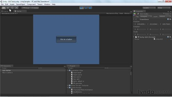 Working with the Unity GUI: Unity 3D 3.5 Essential Training