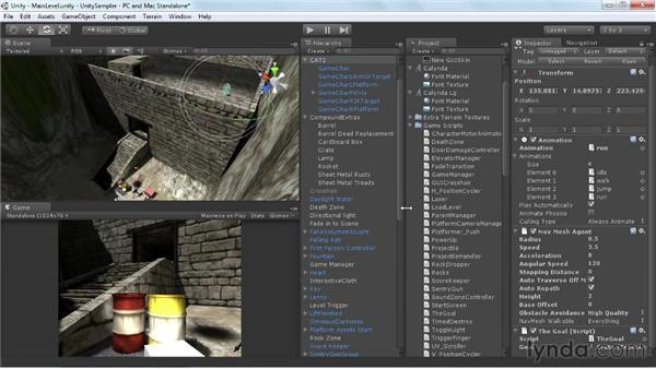 Setting AI pathfinding: Unity 3D 3.5 Essential Training