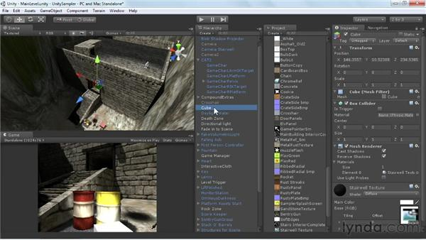 Using render textures for spy cams: Unity 3D 3.5 Essential Training