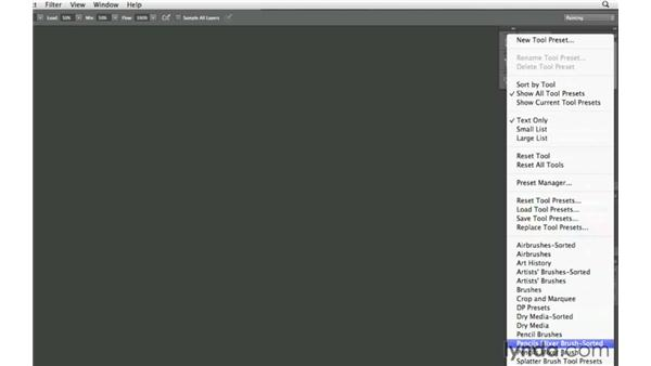 Setting up your painting workspace: Photoshop CS6 New Features: Brushes