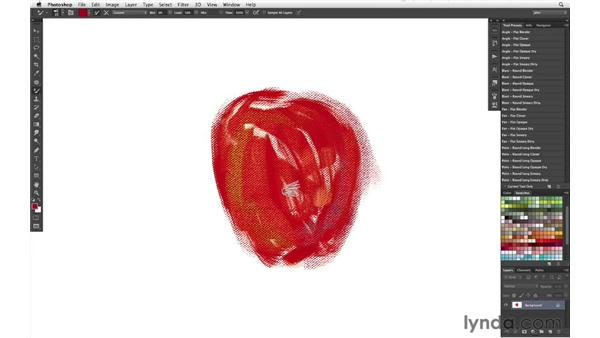 Adding texture to brushstrokes: part two: Photoshop CS6 New Features: Brushes