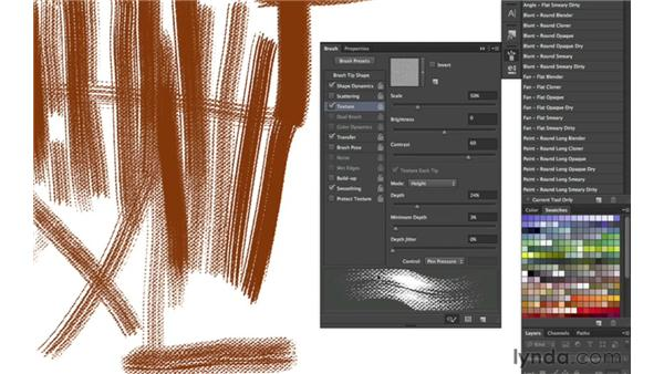 Adding texture to brushstrokes: part three: Photoshop CS6 New Features: Brushes