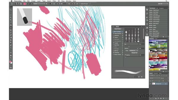 Working with erodible dry media: Photoshop CS6 New Features: Brushes