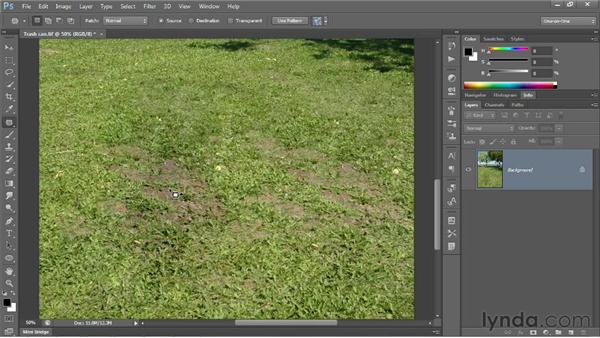 Introducing the Patch tool: Photoshop CS6 One-on-One: Intermediate