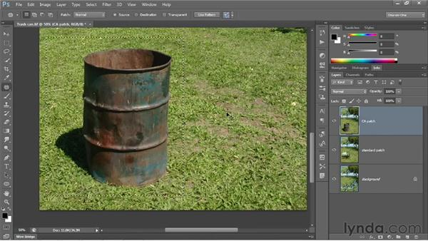 Using Content-Aware Patch: Photoshop CS6 One-on-One: Intermediate