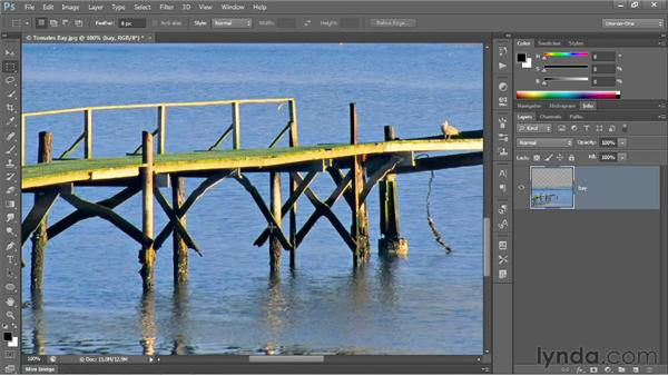 The Content-Aware Scale command: Photoshop CS6 One-on-One: Intermediate