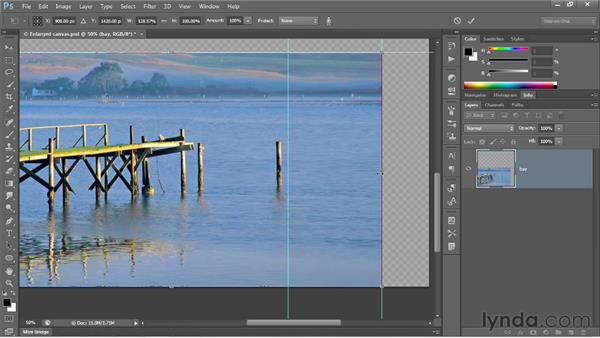 Scaling in multiple passes: Photoshop CS6 One-on-One: Intermediate