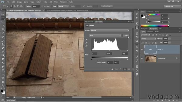 The new automatic Levels adjustment: Photoshop CS6 One-on-One: Intermediate