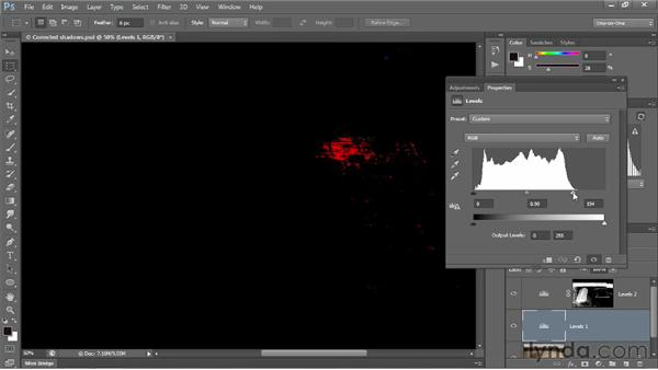 Previewing clipped pixels: Photoshop CS6 One-on-One: Intermediate