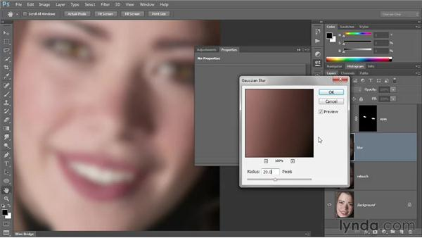 Retouching with Output Levels: Photoshop CS6 One-on-One: Intermediate