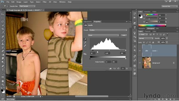 Making channel-by-channel adjustments: Photoshop CS6 One-on-One: Intermediate