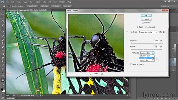 Sharpening a digital photograph: Photoshop CS6 One-on-One: Intermediate