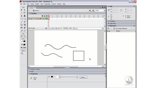 drawing with the pencil: Flash MX 2004 Essential Training