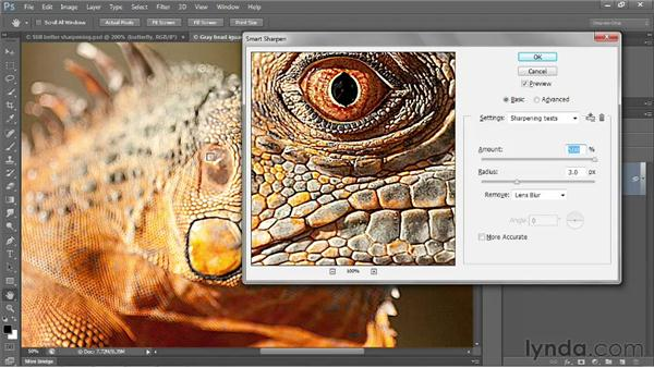 The More Accurate check box: Photoshop CS6 One-on-One: Intermediate