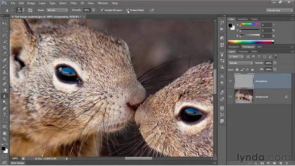 Painting in sharpness: Photoshop CS6 One-on-One: Intermediate