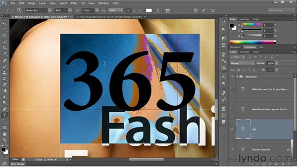 Type size and color tricks: Photoshop CS6 One-on-One: Intermediate