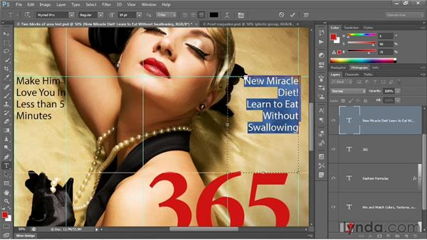 Selecting and formatting paragraphs: Photoshop CS6 One-on-One: Intermediate