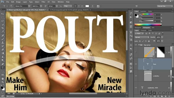 Creating and stylizing a logo: Photoshop CS6 One-on-One: Intermediate