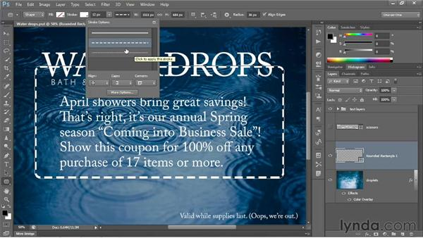 Drawing a dashed or dotted border: Photoshop CS6 One-on-One: Intermediate