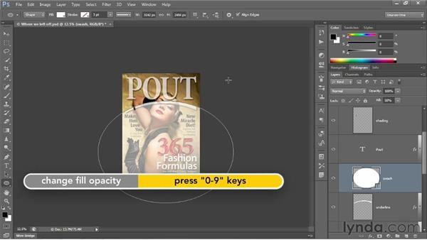 Combining simple shapes to make complex ones: Photoshop CS6 One-on-One: Intermediate