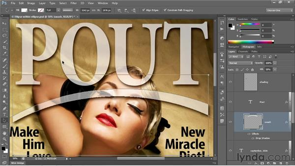 Cropping, adjusting, and merging shapes: Photoshop CS6 One-on-One: Intermediate