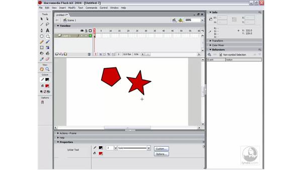 the oval and rectangle tools: Flash MX 2004 Essential Training