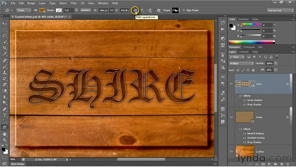 Modifying a layer and its effects: Photoshop CS6 One-on-One: Intermediate