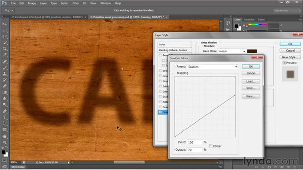 Creating a custom contour: Photoshop CS6 One-on-One: Intermediate