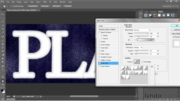 Applying and creating layer styles: Photoshop CS6 One-on-One: Intermediate