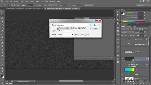 Creating a synthetic star field: Photoshop CS6 One-on-One: Intermediate