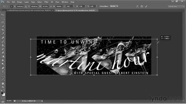 Warping a logo with Arc and Flag: Photoshop CS6 One-on-One: Intermediate