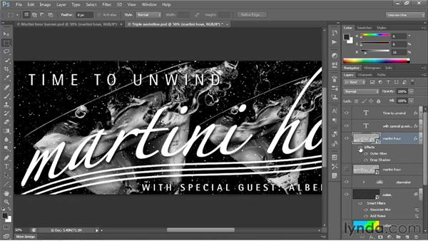 Bolstering text with layer effects: Photoshop CS6 One-on-One: Intermediate