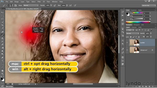 Brush size, hardness, and opacity: Photoshop CS6 One-on-One: Intermediate