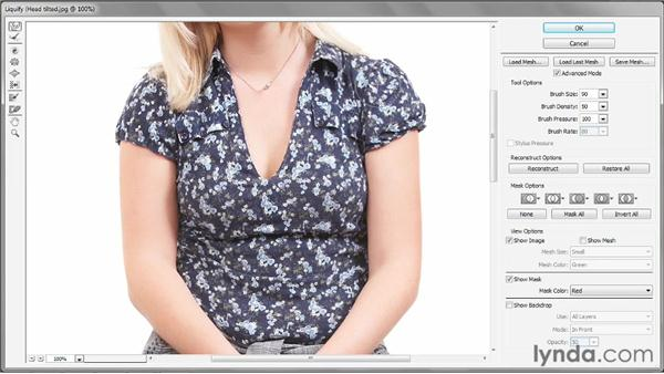 Lifting and slimming details: Photoshop CS6 One-on-One: Intermediate