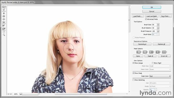 Improving a model's posture: Photoshop CS6 One-on-One: Intermediate