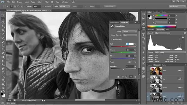 Creating a hyper-saturated image: Photoshop CS6 One-on-One: Intermediate
