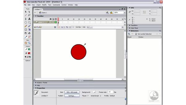 the eyedropper tool: Flash MX 2004 Essential Training