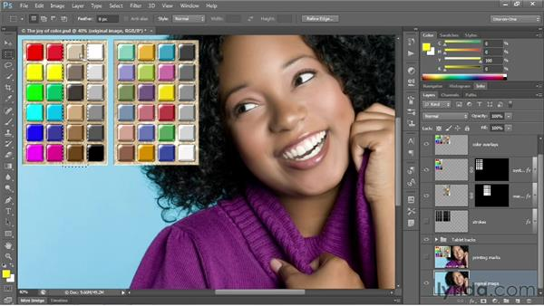 Using the test document: Photoshop CS6 One-on-One: Intermediate