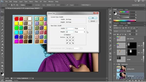 Establishing a bleed: Photoshop CS6 One-on-One: Intermediate