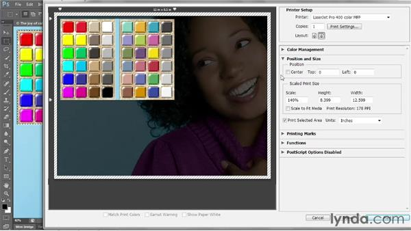 Special printing options: Photoshop CS6 One-on-One: Intermediate