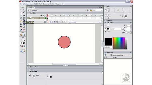 using the mixer and creating gradients: Flash MX 2004 Essential Training
