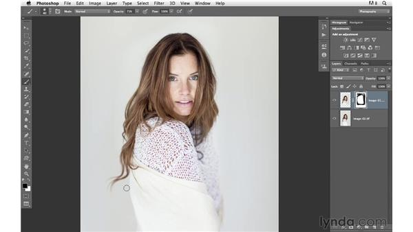 Combining two frames to improve the overall image: Photoshop for Photographers: Compositing