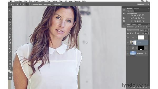 Removing the subject from a location: Photoshop for Photographers: Compositing