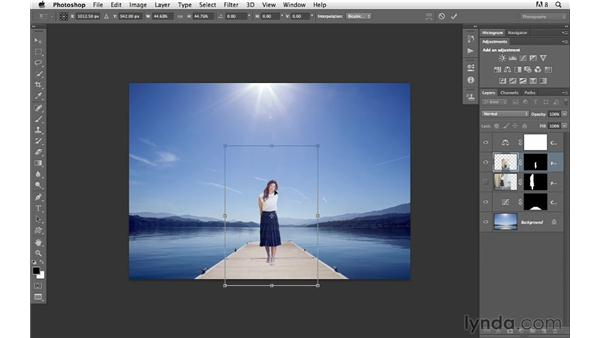 Changing the scale of the subject: Photoshop for Photographers: Compositing