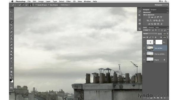 Relocating the subject: Photoshop for Photographers: Compositing