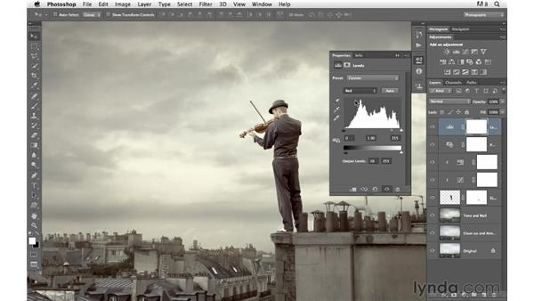 Working on shadows and color: Photoshop for Photographers: Compositing