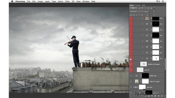 An inspirational sneak peek into the layered file of a compositing guru: Photoshop for Photographers: Compositing