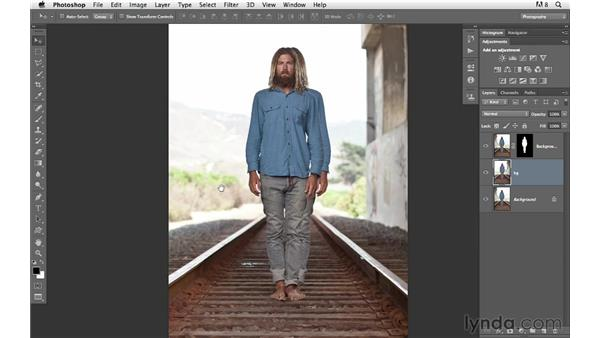 Improving composition with symmetry: Photoshop for Photographers: Compositing