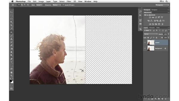 Extending the background: Photoshop for Photographers: Compositing