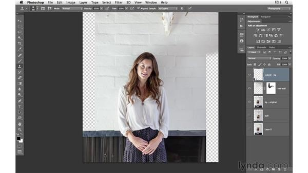 Filling in the gaps in the background: Photoshop for Photographers: Compositing